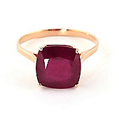 QP Jewellers 4.70ct Ruby Ring in 14K Rose Gold