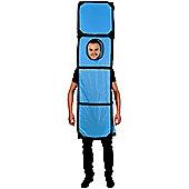 Tetris Blue I - Adult Costume Size: 38-52