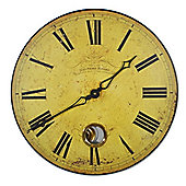Roger Lascelles Clocks Geneva Dial Wall Clock with Pendulum