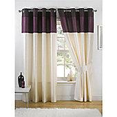 KLiving Harmony Aubergine Lined 45x54 Eyelet Curtains