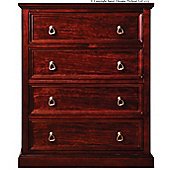 Sweet Dreams Wagner 4 Drawer Chest - Mahogany