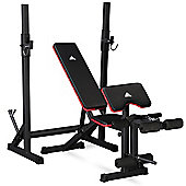 Adidas Essential Workout Weight Bench & Squat Rack Stand - 180kg Weight Load