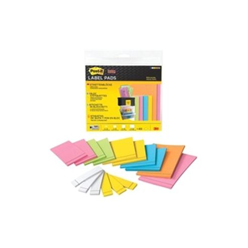 3M Post-it Super Sticky Label Pad Assorted Sizes Pack of 21 2900 M21EU