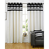 Dreams n Drapes Kendal Black 46x72 Eyelet Lined Eyelet Curtains