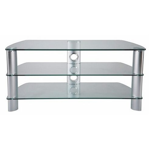 Stil-Stand Hog TV Stand - Clear / Silver