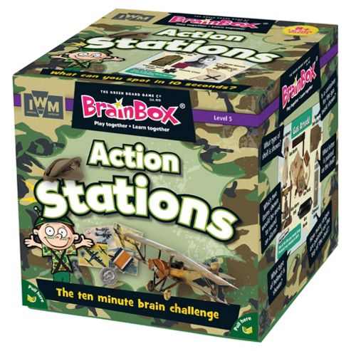 Brain Box action stations Memory Card Game