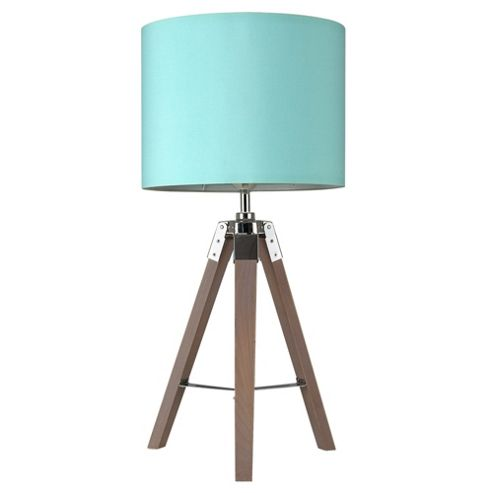 buy marine tripod table lamp base wood chrome duck egg blue from our table lamps range tesco. Black Bedroom Furniture Sets. Home Design Ideas