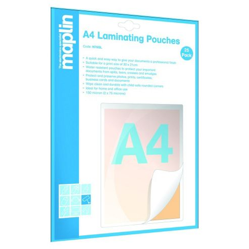 A4 Laminating Pouches 25 Pack