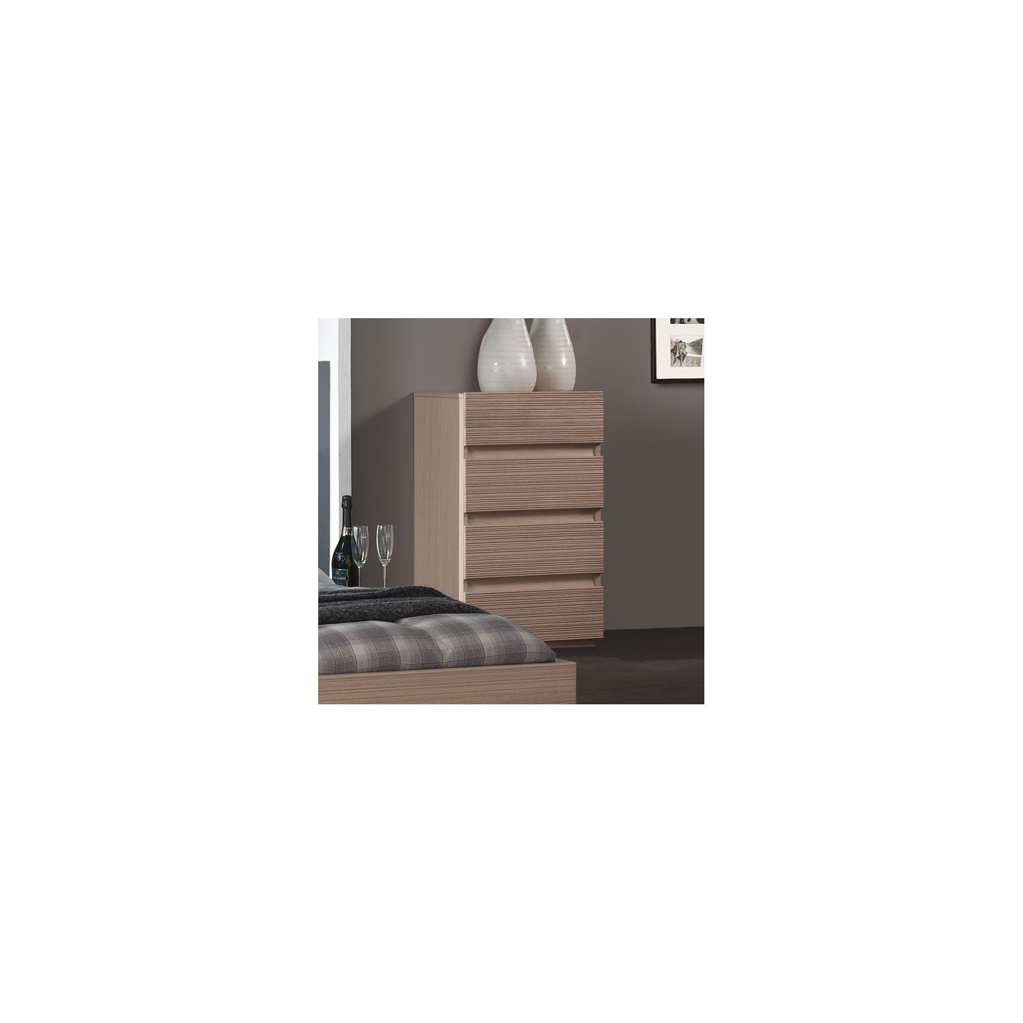 Sleepline Diva 4 Drawer Narrow Chest - Grey Mat Lacquered at Tesco Direct