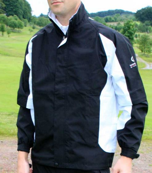 Sunderland Mens Tour Performance Waterproof Jacket in Small Black & Lime