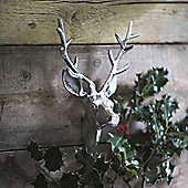 Aluminium Wall Mounted Silver Stag's Or Deer Head