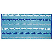 Shark Design Beach Towel