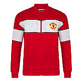 Manchester United 1985 Track Jacket - Red & White