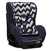 Obaby Group 0, 1 Combination Car Seat - ZigZag Navy