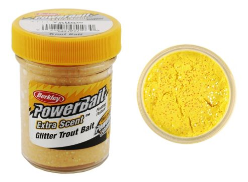 Berkley Powerbait Select Glitter Troutbait - Yellow Twin Pack