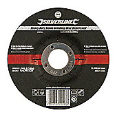 Silverline Heavy Duty Stone Grinding Disc Depressed 115 x 6 x 22.23mm