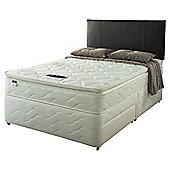 Silentnight Double Divan Bed Set- Miracoil Pillowtop Fiji, 2 Drawer