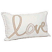 Embelished Love Cushion