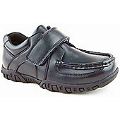 Skittles Boys Marathon Black School Shoes