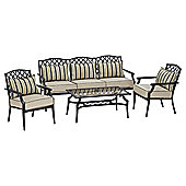 Dobbies St Regis Sofa Set - 2 Chairs 1 Sofa And 1 Table