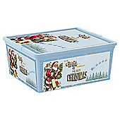 Christmas Decorations Storage Box with Lid, Medium