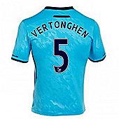2013-14 Tottenham Away Shirt (Vertonghen 5) - Ocean blue