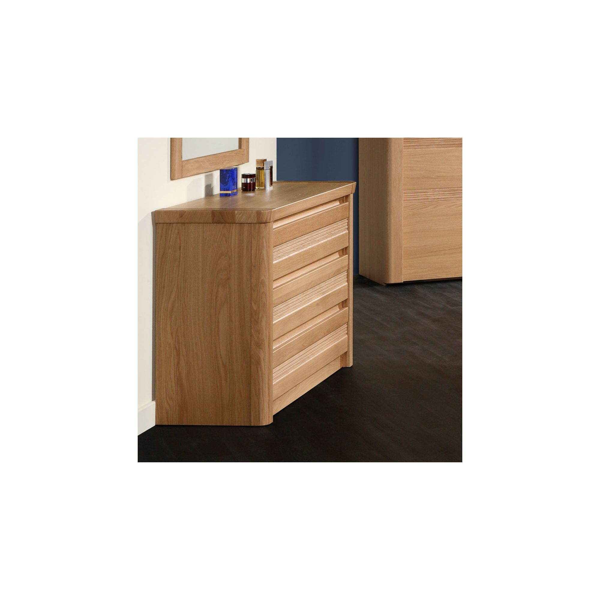 Sleepline Mundo Narrow 3 Drawer Chest - White Mat Lacquered at Tesco Direct