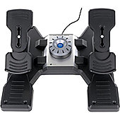 Saitek Pro Flight Rudder Pedals with Toe Brakes