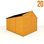 BillyOh 20 10 x 8 Windowless Rustic Overlap Apex Shed