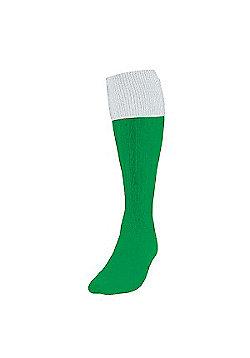 Precision Training Turnover Football Socks - Green & White
