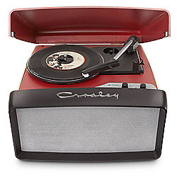 Crosely Collegiate Portable USB Turntable (Red)