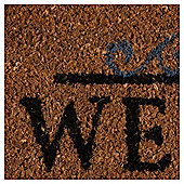 Tesco PVC Backed Coir Mat Welcome 40cm x 60cm