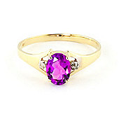 QP Jewellers Diamond & Pink Topaz Oval Desire Ring in 14K Gold