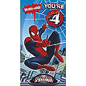 Marvel Spider-Man Birthday Card - 4 Years