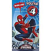 Marvel Spider-Man Birthday Card - 4 Years