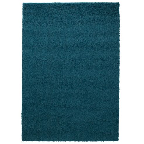 Tesco Alpine Shaggy Rug Soft Teal 80X150Cm
