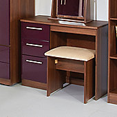 Welcome Furniture Knightsbridge Writing Desk - Aubergine - Walnut