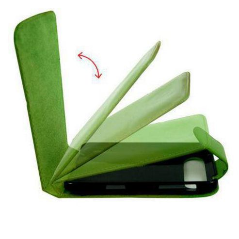 U-bop Accessories 3283 Neo-Orbit Leather Case for HTC Wildfire A3333 G8 - Green