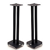 B-Tech 60cm Pair of Black Speaker Stands with Metal Base