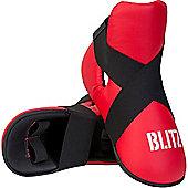 Blitz - PU Semi Contact Foot Protector - Red