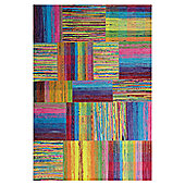 InRUGS Patch Multi Woven Rug - 200cm x 140cm (6 ft 6.5 in x 4 ft 7 in)