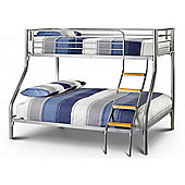 Aluminium Finish Triple Sleeper Bunk Bed