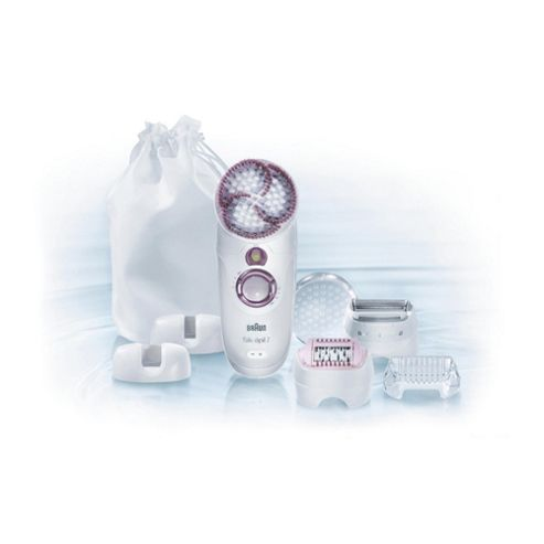 Braun Silk-épil 7 Skin Spa 7951 Wet and Dry Epilator plus Exfoliation Brush and 4 attachments