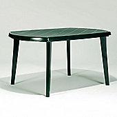 Allibert Jardin Elise 6 Seat Forest Green Rectangular Dining Table