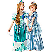 Ariel to Cinderella Platinum Reversible - Child Costume 5-6 years