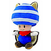"Official Nintendo Mario Plush Series Stuffed Toy - 6"" Musasabi Blue Toad Flying Squirrel Kinopio"