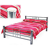 Silver Grille Style Single Metal Bed Frame - 3ft