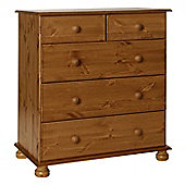 Valufurniture Copenhagen Pine 2 + 3 Drawer Deep Chest