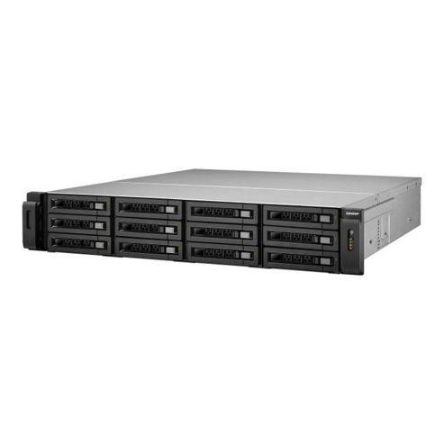 QNAP TS-1279U-RP Rack Server 48TB (12x4TB) 12-Bay Turbo NAS for High-End Small and Medium Business Users (Black)