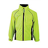 Adrenaline Kids Iso-Viz Fluorescent Waterproof Cycling Running Jacket - Yellow